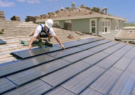 Tiles photovoltaic installation