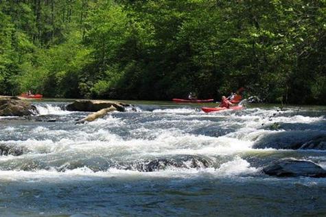 Kayaking in Dahlonega
