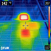 Infra Red Image of Solar PV Panel Damage