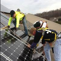 Solar PV Installers on the Roof