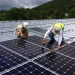 Commercial Roof Solar Installation
