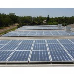 Commercial Solar PV Array on Flat Roof
