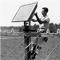 the first solar installation