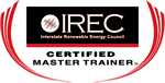 IREC Certified Master PV Trainer Logo for Kelly Provence