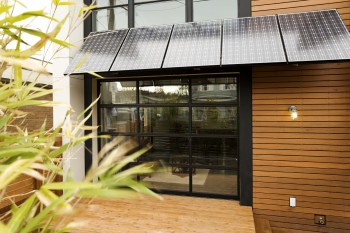 Solar PV Awning on Modern Home