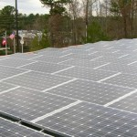 Large Solar PV Array on Commercial Roof