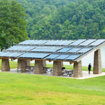Picnic Shelter with Solar Electric PV on Roof