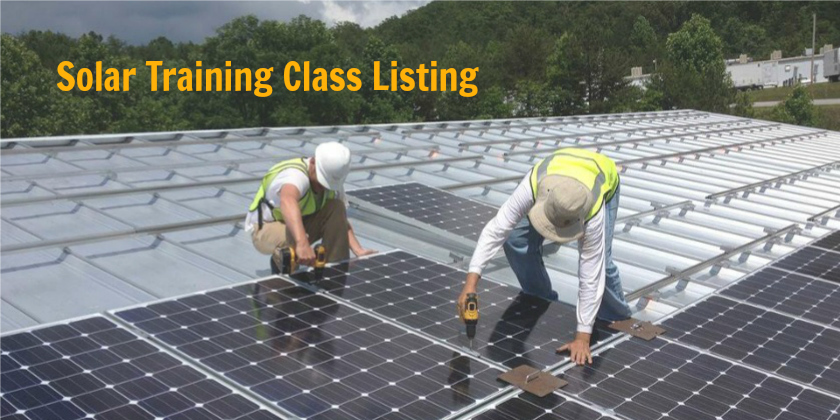 SOLAR TRAININGCLASS LIST