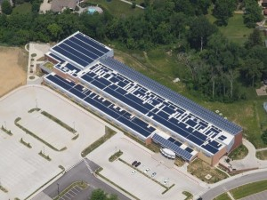Photo of PV Array on Turkey Foot Middle School in KY