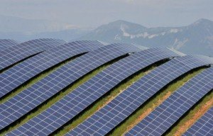 Large Solar Farm in the Mountains